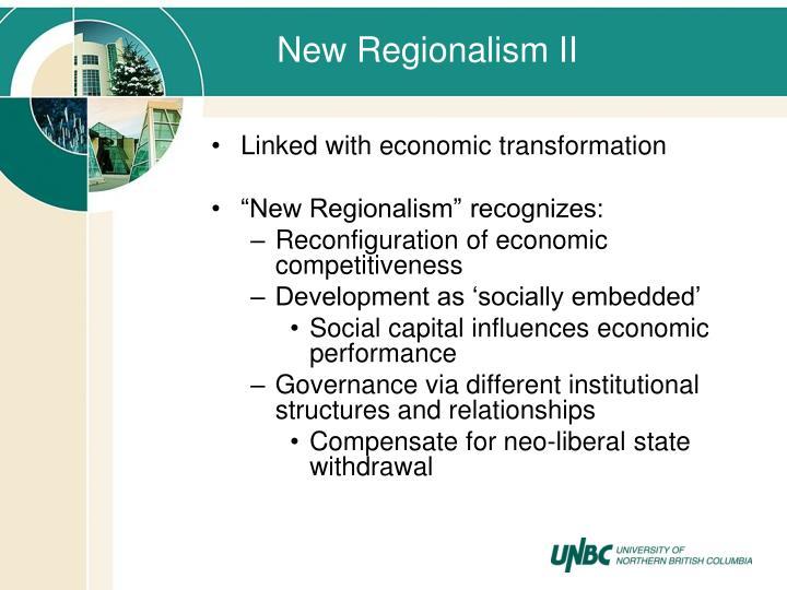 New Regionalism II