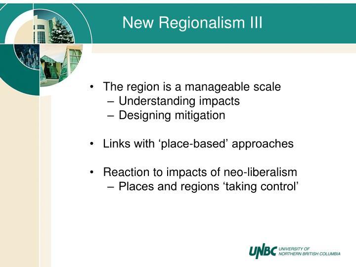 New Regionalism III