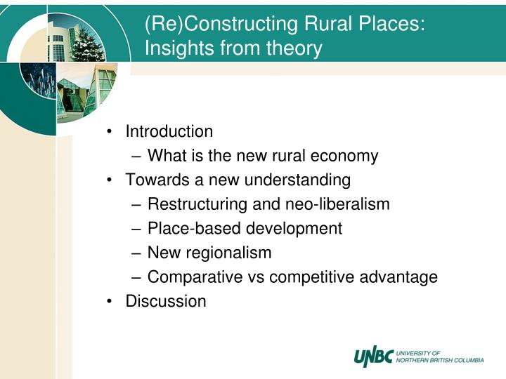 (Re)Constructing Rural Places: