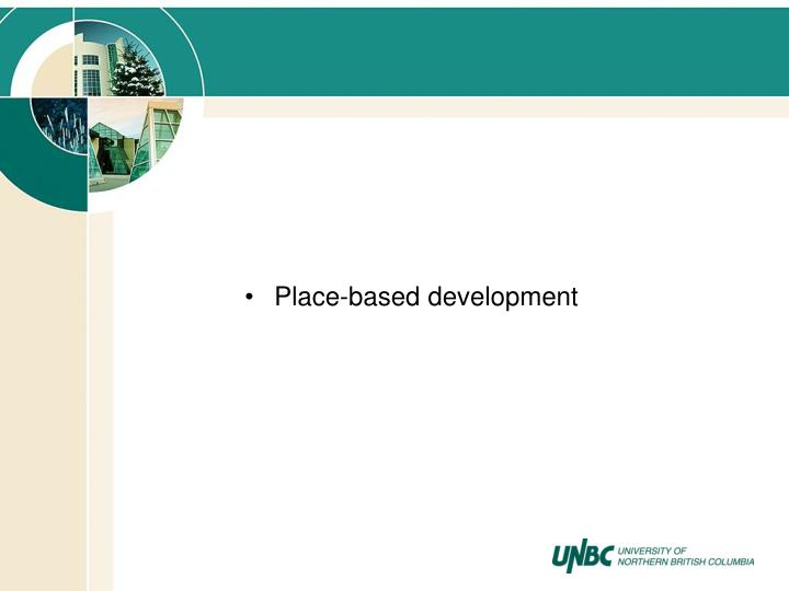 Place-based development