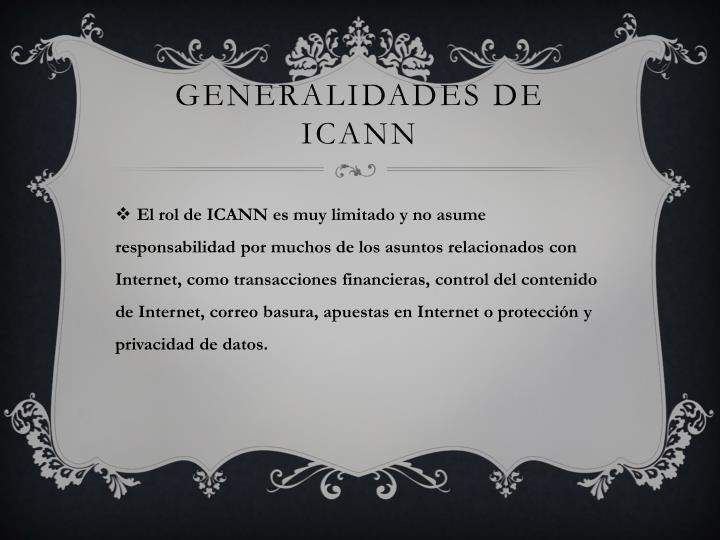 Generalidades de ICANN