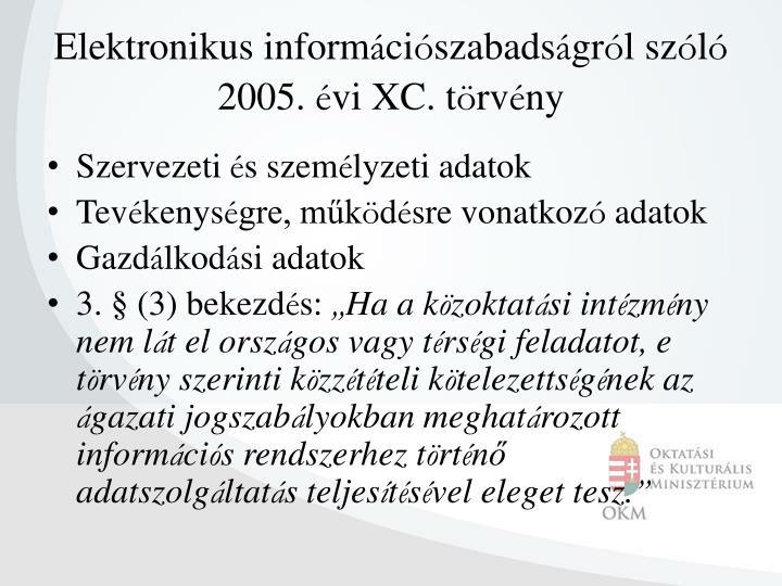 Elektronikus inform