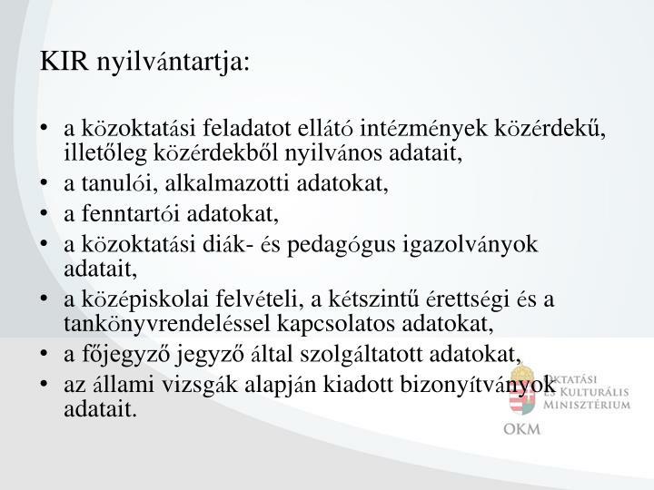 KIR nyilv
