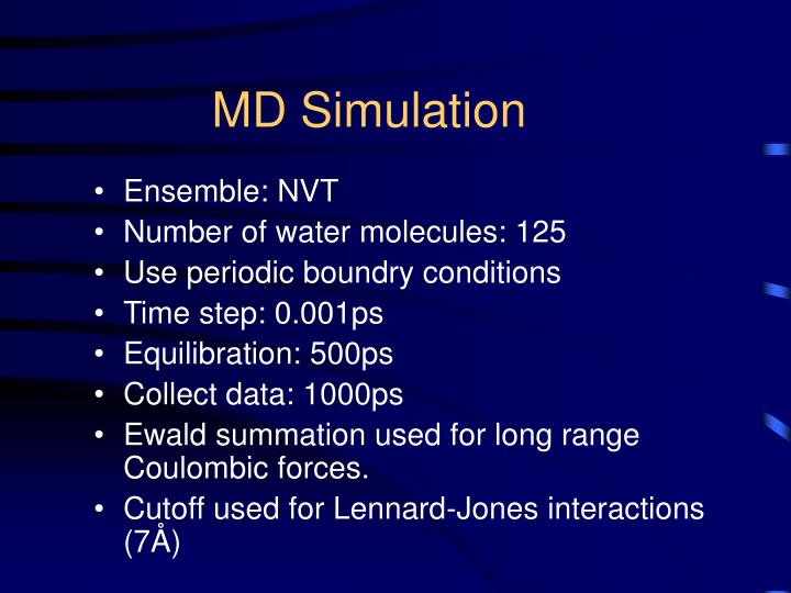MD Simulation