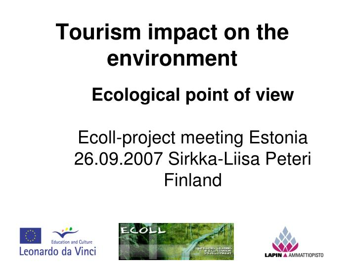 Tourism impact on the environment