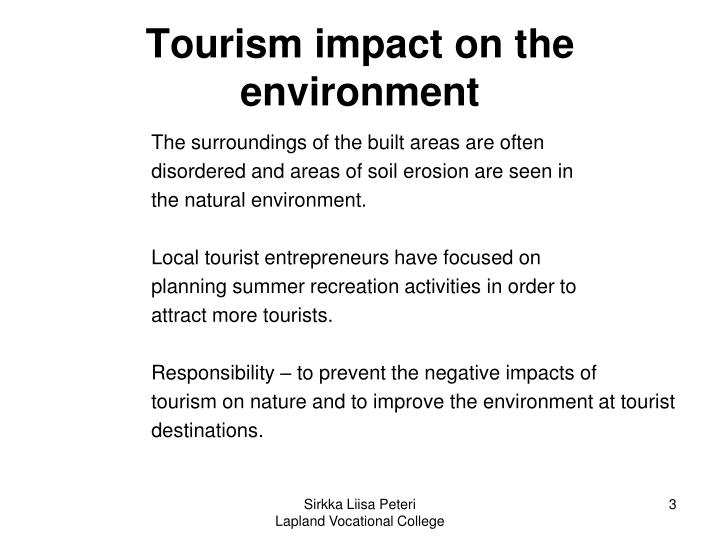 Tourism impact on the environment1