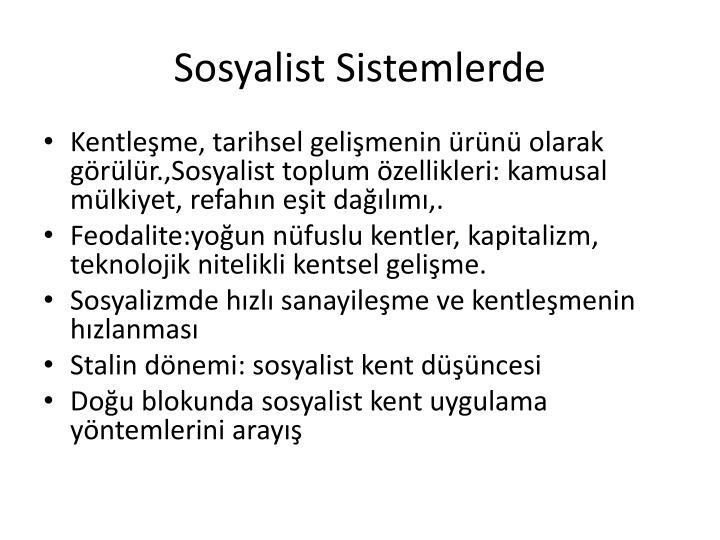 Sosyalist Sistemlerde