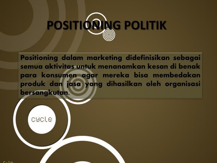 POSITIONING POLITIK