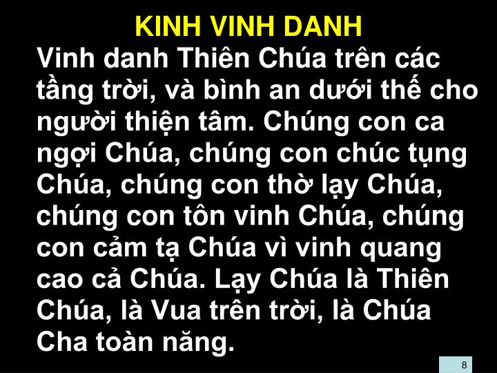 KINH VINH DANH