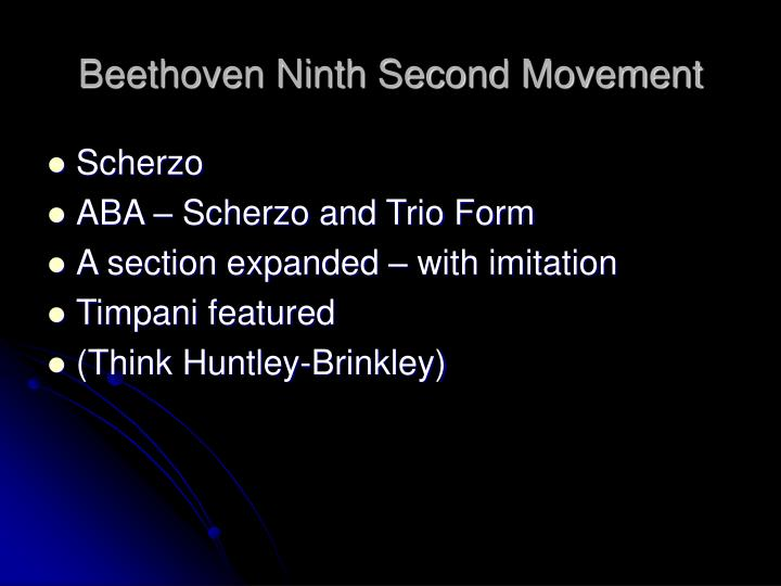 Beethoven Ninth Second Movement