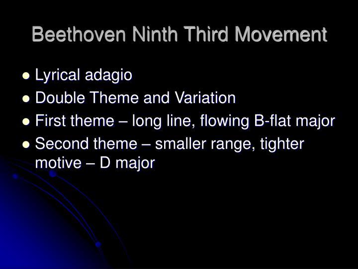 Beethoven Ninth Third Movement