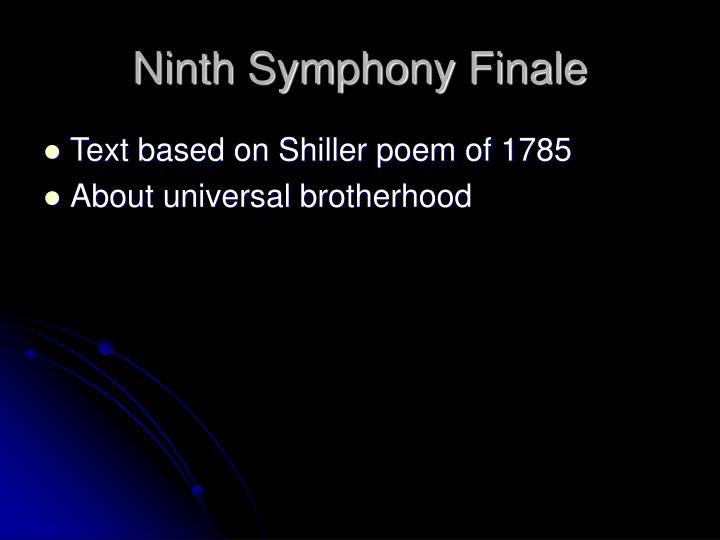 Ninth Symphony Finale