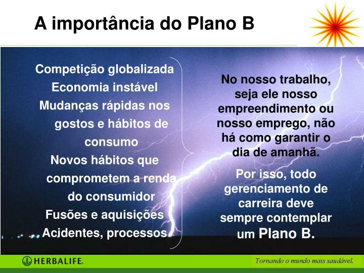 A importância do Plano B