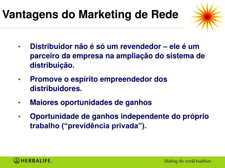 Vantagens do Marketing de Rede
