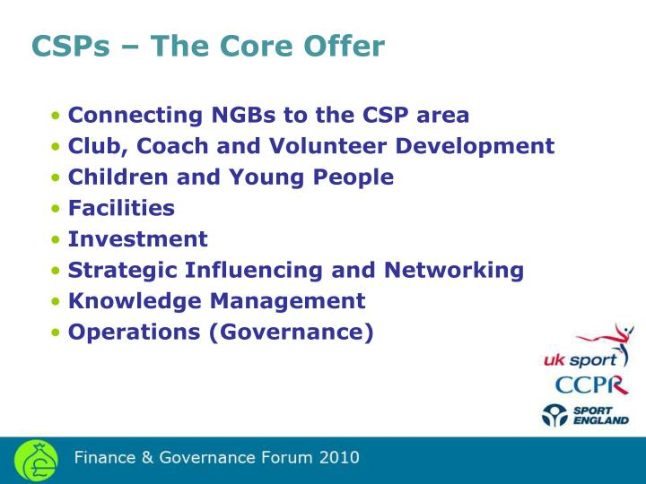 CSPs – The Core Offer