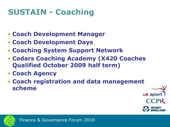 SUSTAIN - Coaching