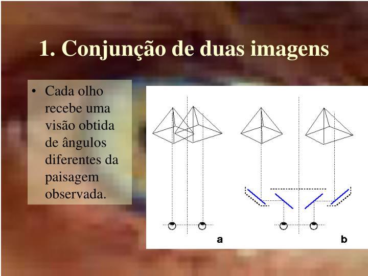 1. Conjunção de duas imagens