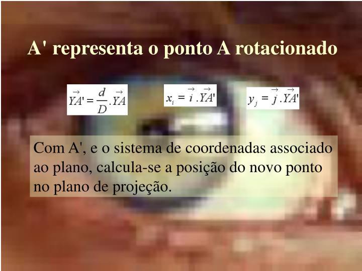 A' representa o ponto A rotacionado