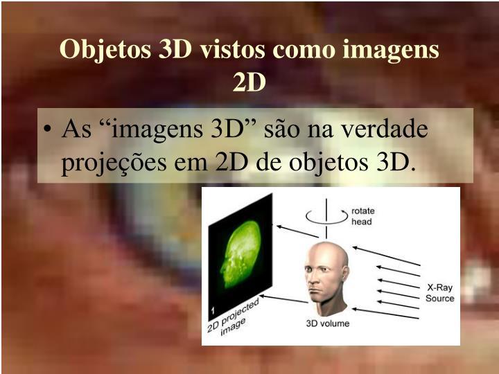 Objetos 3D vistos como imagens 2D