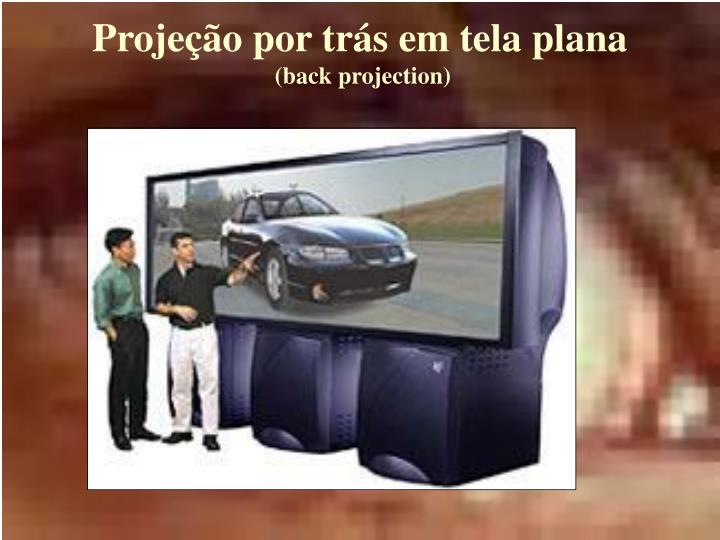 Projeção por trás em tela plana