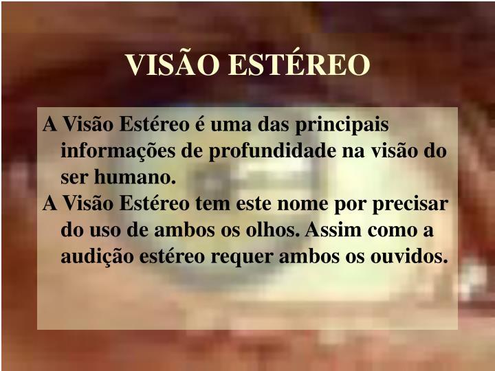 VISÃO ESTÉREO