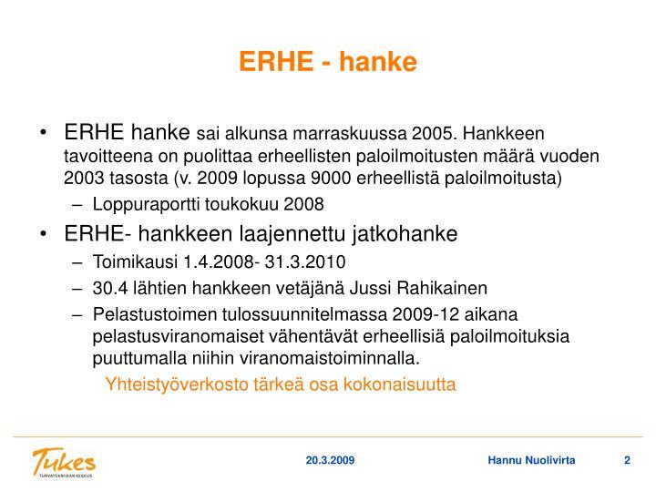 ERHE - hanke