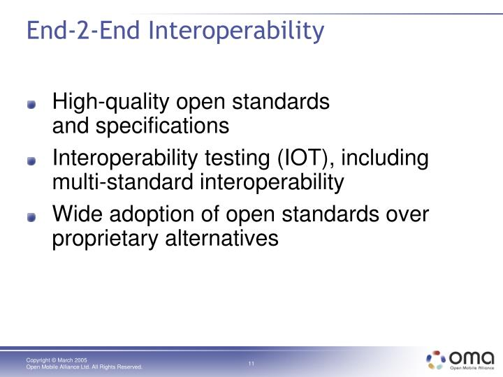 End-2-End Interoperability