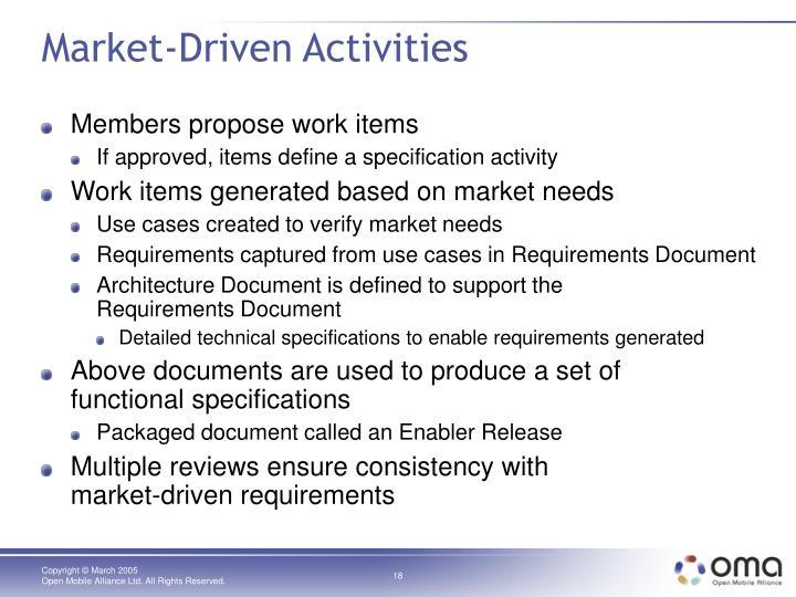 Market-Driven Activities