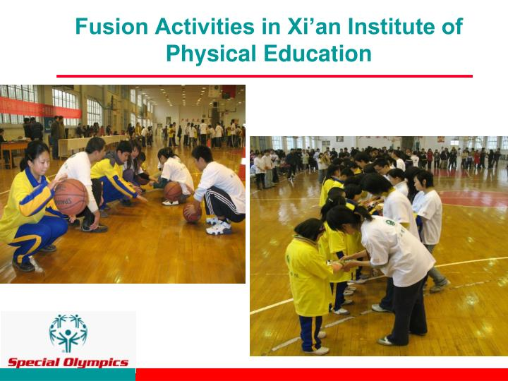 Fusion activities in xi an institute of physical education