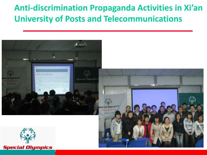 Anti-discrimination Propaganda Activities in Xi