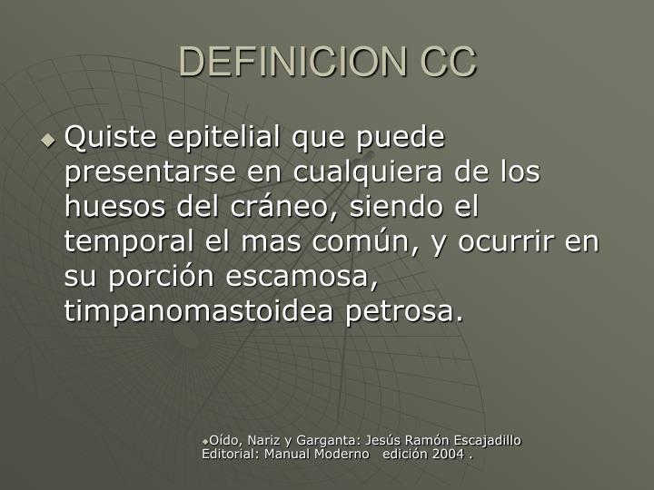 DEFINICION CC