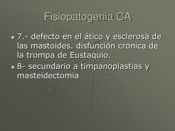 Fisiopatogenia CA