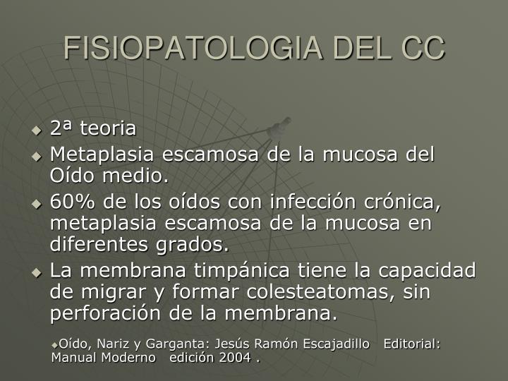 FISIOPATOLOGIA DEL CC
