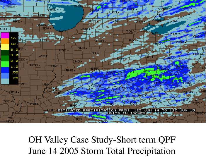 OH Valley Case Study-Short term QPF