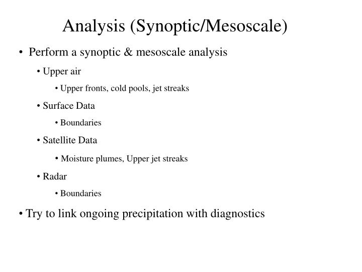 Analysis (Synoptic/Mesoscale)
