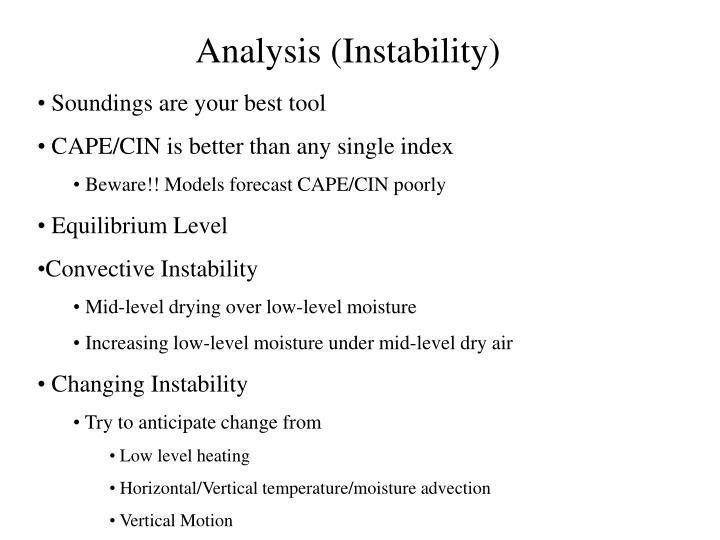 Analysis (Instability)