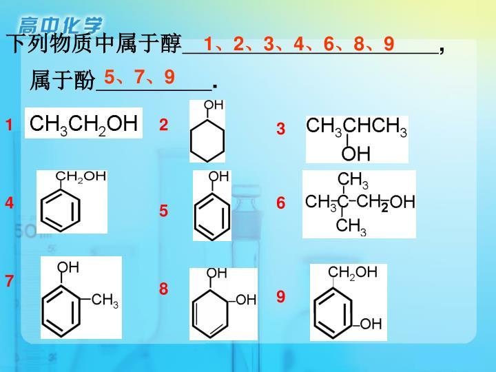下列物质中属于醇