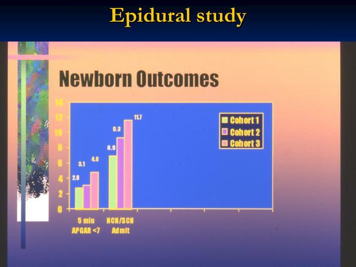 Epidural study