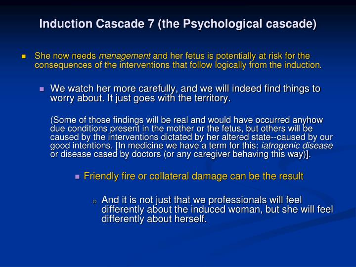 Induction Cascade 7 (the Psychological cascade)
