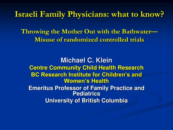 Israeli Family Physicians: what to know?
