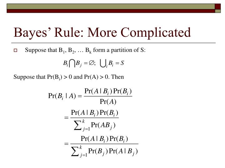 Bayes' Rule: More Complicated