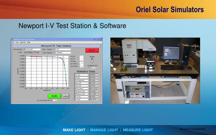 Newport I-V Test Station & Software