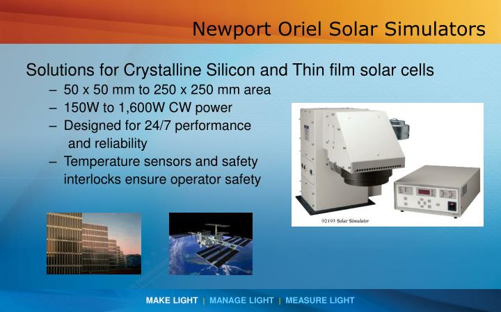 Newport Oriel Solar Simulators