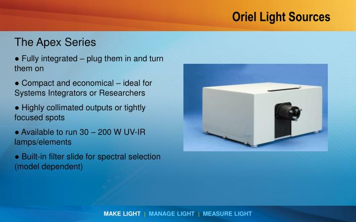 Oriel Light Sources