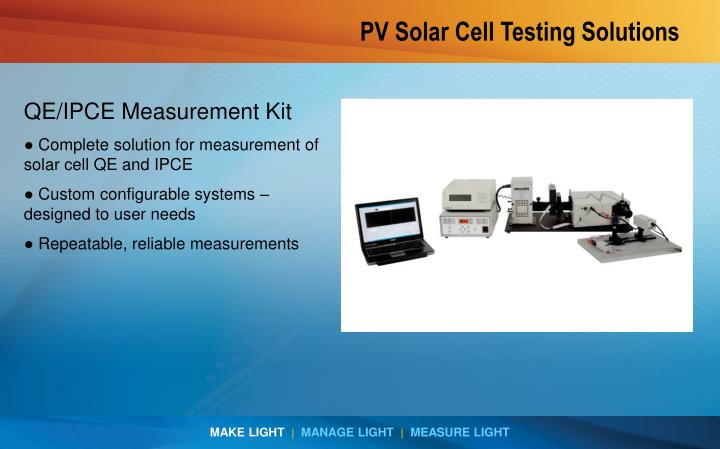 PV Solar Cell Testing Solutions