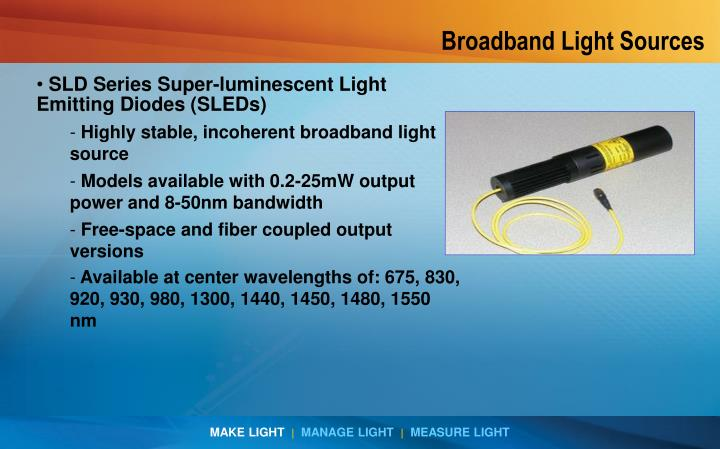 Broadband Light Sources