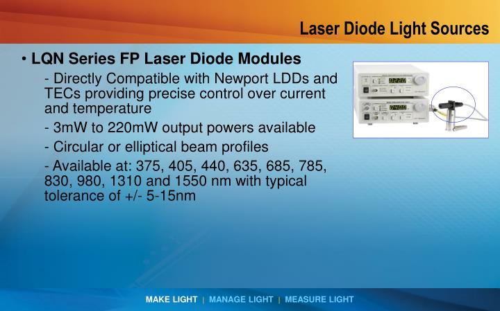 Laser Diode Light Sources