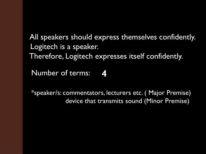 All speakers should express themselves confidently.