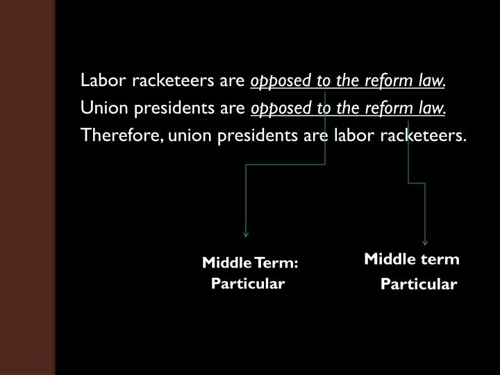 Labor racketeers are