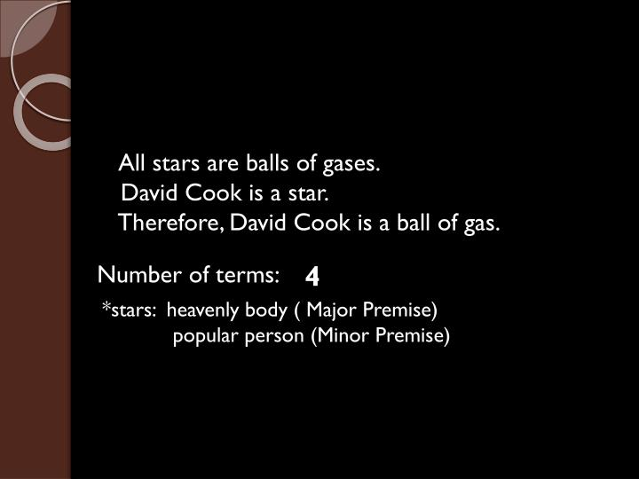 All stars are balls of gases.